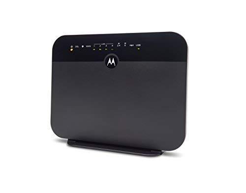 MOTOROLA VDSL2/ADSL2+ Modem + WiFi AC1600 Gigabit Router, Model MD1600, for Non-Bonded,...