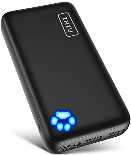 INIU Portable Charger, Compact 20000mAh Dual 3A High-Speed Power Bank, USB C Input with...