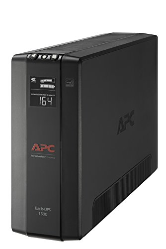 APC UPS, 1500VA UPS Battery Backup & Surge Protector with AVR, Back-UPS Pro Uninterruptible Power Supply (BX1500M)