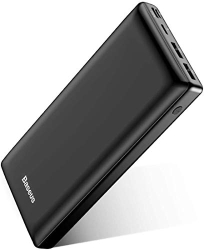 USB C Fast Battery Pack Charger, Baseus Portable Power Bank 30000mAh, 3 Output Port...