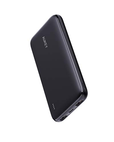 AUKEY USB C Power Bank, 10000mAh Portable Charger, Dual-Output Battery Pack Compatible...