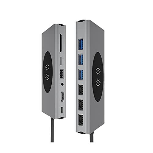 JJWC USB Type C Hub USB 3.0 Type-C Hub to HDMI Adapter 4K Thunderbolt 5 USB C Hub with TF...