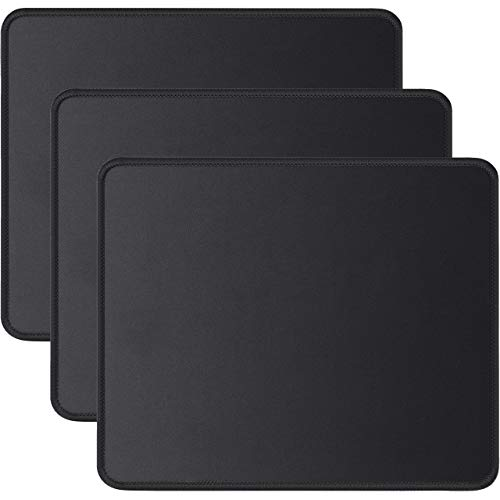 JIKIOU 3 Pack Mouse Pad with Stitched Edge, Computer Mouse Pad with Non-Slip Rubber Base,...