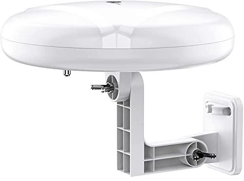 HDTV Antenna - 1byone 360° Omni-Directional Reception Amplified Outdoor TV Antenna Long...