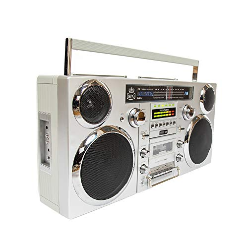 GPO Brooklyn 1980S-Style Portable Boombox - CD Player, Cassette Player, FM & DAB+ Radio,...