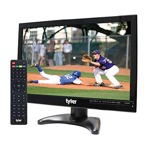 Tyler TTV705-14 14' Portable Battery Powered LCD HD TV Television with HDMI, USB, RCA, and...