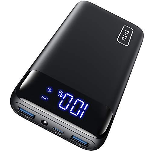 INIU Portable Charger, LED Display 20000mAh Power Bank, 18W PD 3.0 QC 4.0 USB C Battery...