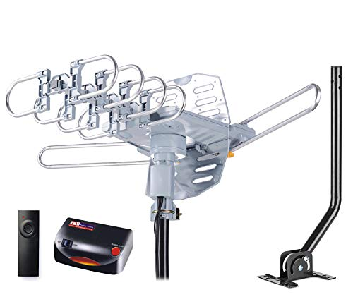 PBD WA-2608 Digital Amplified Outdoor HD TV Antenna with Mounting Pole & 40 ft RG6 Coax...
