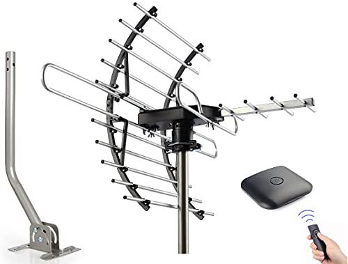 PBD Digital HDTV Antenna, Amplified Attic/Outdoor Antenna, 360 Degree Rotation Wireless...