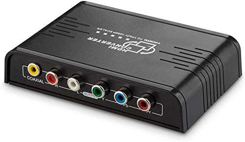 Cingk 1080P HDMI To Component Video (YPbPr) Scaler Converter Adapter with...