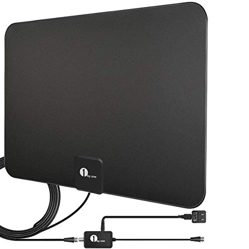 Amplified HD Digital TV Antenna - Support 4K 1080p and All Older TV's - Indoor Smart...