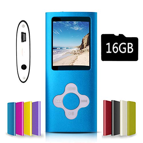 G.G.Martinsen Blue with White Versatile MP3/MP4 Player with a Micro SD Card, Support Photo...