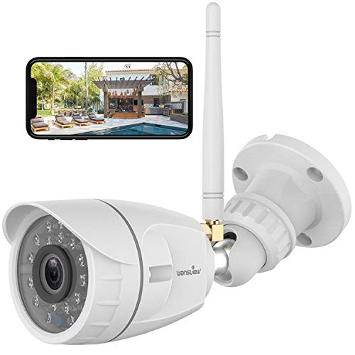 Outdoor Security Camera, Wansview 1080P Wireless WiFi Home Surveillance...