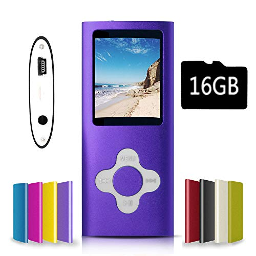 G.G.Martinsen Purple&White Versatile MP3/MP4 Player with a Micro SD Card, Support Photo...