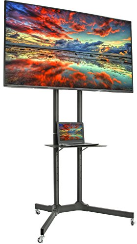 VIVO Mobile TV Cart for 32-65 inch LCD LED Plasma Flat Panel Screen TVs up to 110 lbs  ...