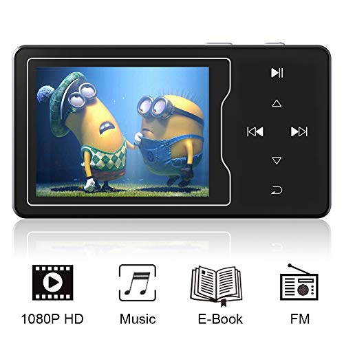 RUIZU MP3 MP4 Video Player 16GB 2.4' Large Screen Music Player Built-in Speaker HiFi Sound...