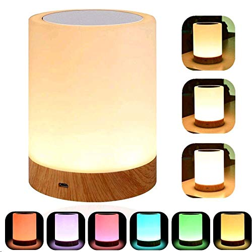 YSD Touch Lamp, Bedside Lamp & Table Lamp with Rechargeable Battery, Brightness Adjustable...