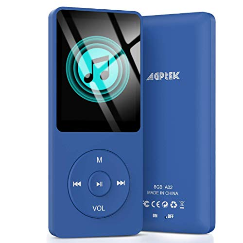 AGPTEK A02 8GB MP3 Player, 70 Hours Playback Lossless Sound Music Player (Supports up to...