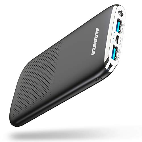 Alongza Portable Phone Charger,External Battery Charger 10000mAh Ultra Slim USB Cell Phone...