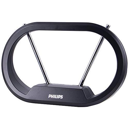 Philips Modern Loop Rabbit Ears Indoor TV Antenna, 15 inch Extendable Dipoles, 4K 1080P...