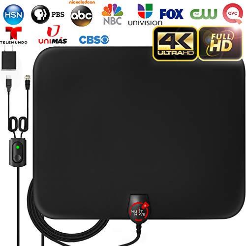[2020 LATEST] Amplified HD Digital TV Antenna Long 120 Miles Range - Support 4K 1080p Fire...