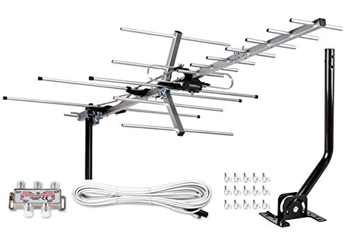 [Newest 2020] Five Star Yagi Satellite HD TV Antenna up to 200 Mile Range, Attic or Roof...
