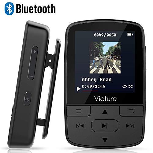 Victure MP3 Player Clip Bluetooth 8G with FM Radio Sport Pedometer Voice Recorder...