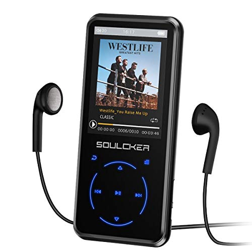 MP3 Player, 16GB MP3 Player with Bluetooth 4.0, Portable HiFi Lossless Sound MP3 Music...