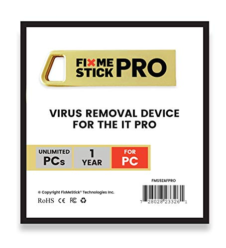 FixMeStick PRO Virus Removal for Business - Unlimited Use on Unlimited Windows Laptops and...