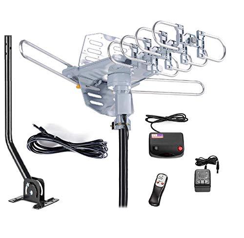 McDuory Outdoor 150 Miles Digital Antenna 360 Degree Rotation Amplified HDTV Antenna...