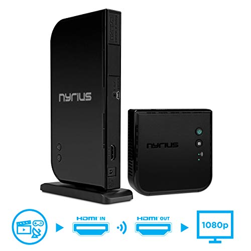 Nyrius Aries Home HDMI Digital Wireless Transmitter & Receiver for HD 1080p Video...