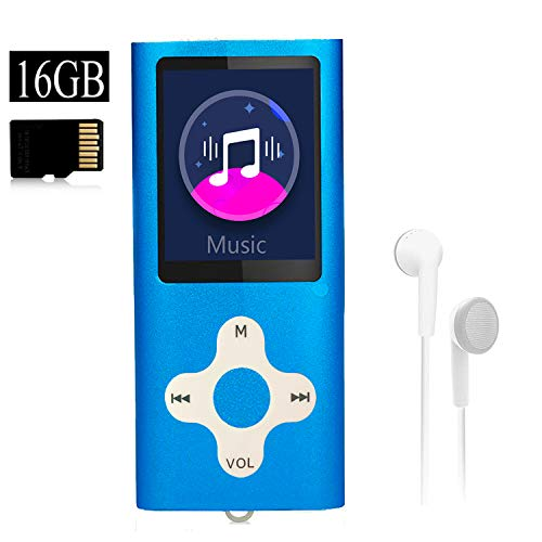 Mp3 Player,Music Player with a 16 GB Memory Card Portable Digital Music Player/Video/Voice...