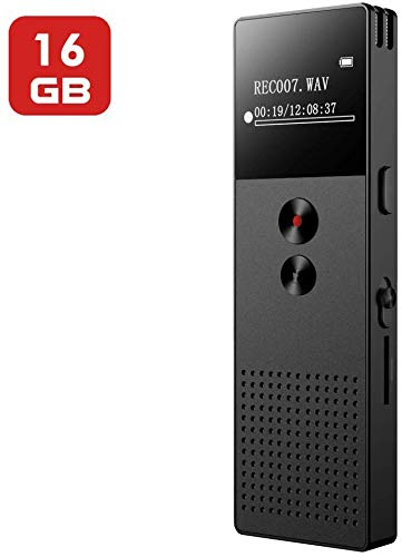Voice Recorder, 16GB Digital Voice Recorder for Lecture, Audio Voice Recorder with MP3...