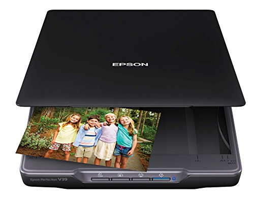 Epson Perfection V39 Color Photo & Document Scanner with Scan-To-Cloud &...