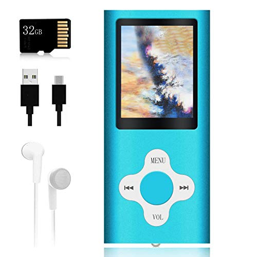 Mp3 Player,Music Player with a 32 GB Memory Card Portable Digital Music Player/Video/Voice...