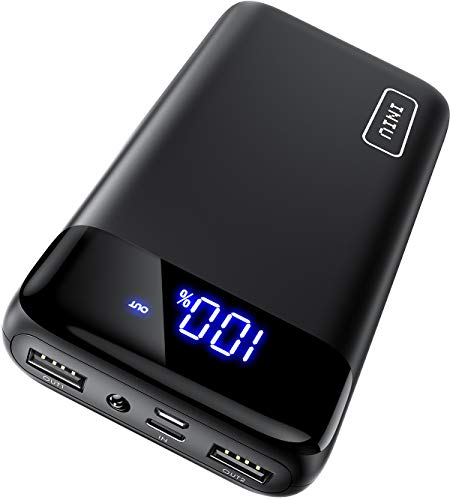 INIU Portable Charger, LED Display 20000mAh Dual 3A High-speed Ports with USB C Input...