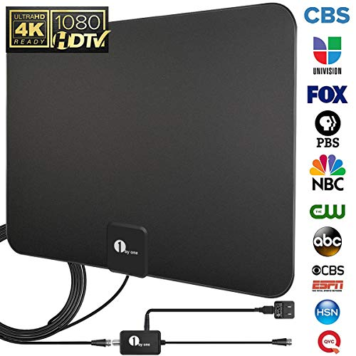 HDTV Antenna, TV Antenna Digital Amplified Indoor HD Up to 80 Miles Range, Amplifier...