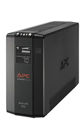 APC UPS, 850VA UPS Battery Backup & Surge Protector with AVR, Uninterruptible Power Supply (BX850M)