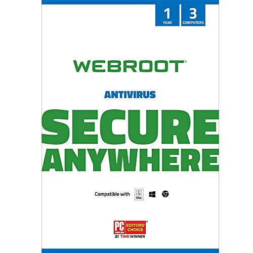 Webroot Internet Security with Antivirus Protection Software | 3 Device | 1...