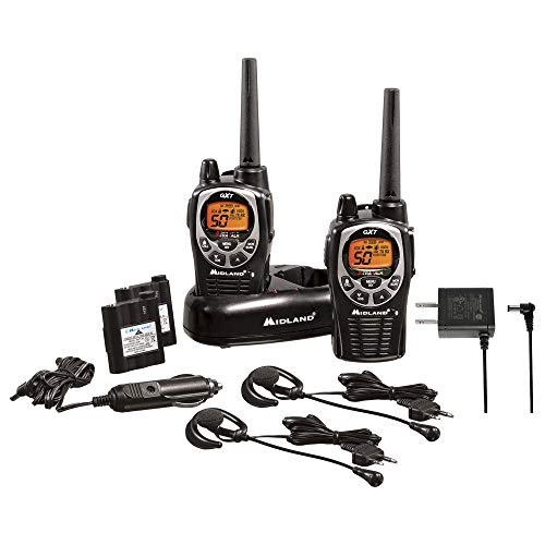 Midland 50 Channel Waterproof GMRS Two-Way Radio - Long Range Walkie Talkie with 142...