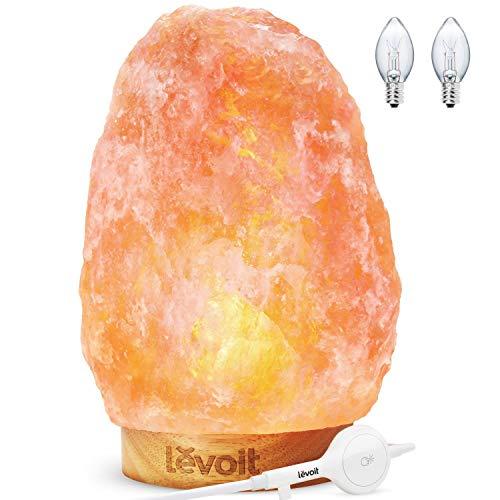 LEVOIT Kana Salt Lamp, Himalayan/Hymilain Pink Crystal Large Sea Rock, Night Light, with...