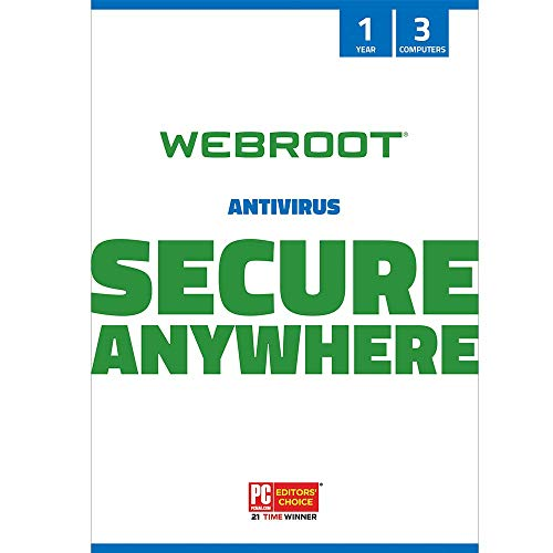Webroot Internet Security with Antivirus Protection Software | 3 Device | 1 Year...