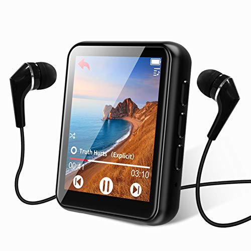 MP3 Player Bluetooth 5.0 Touch Screen Music Player 16GB Portable mp3 Player with Speakers...