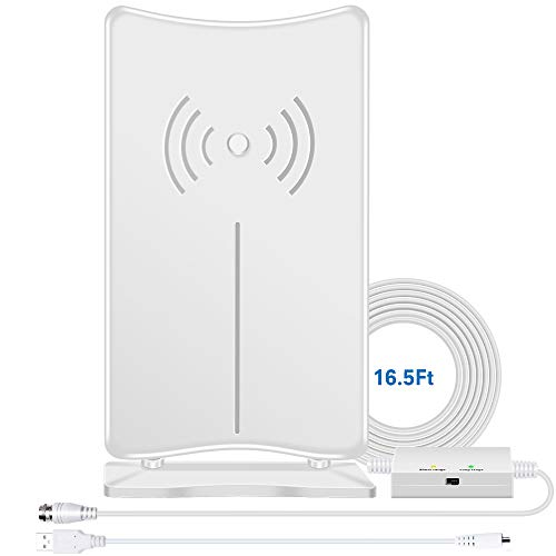 TV Antenna Indoor, Digital HD Antenna 160 Miles Long Range for HDTV,...