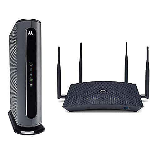 Motorola MB8600 Cable Modem + AC2600 Smart Wi-Fi Router with Extended Range | Top Tier...