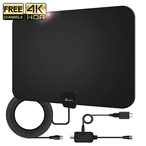 Amplified HD TV Antenna, 2020 Upgraded Digital Indoor HDTV Antenna Up to 120 Mile Range,...