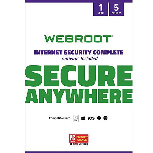 Webroot Internet Security Complete with Antivirus Protection Software | 5...