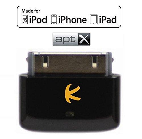 KOKKIA i10s + aptX (Luxurious Black) Tiny Bluetooth iPod Transmitter for iPod/iPhone/iPad...