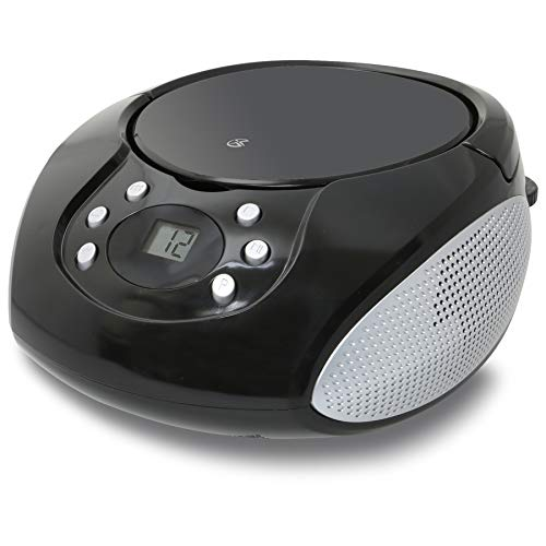 GPX, Inc. Portable Top-Loading CD Boombox with AM/FM Radio and 3.5mm Line In for MP3...