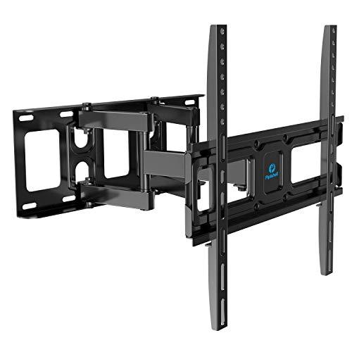 TV Wall Mount Bracket Full Motion Dual Swivel Articulating Arms Extension Tilt Rotation,...